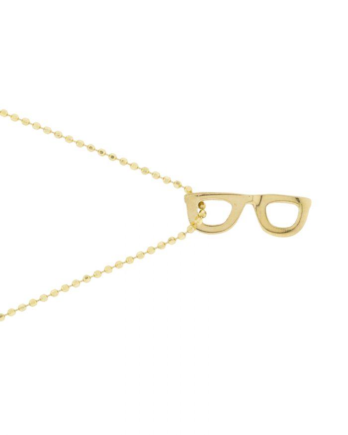 Colgante de oro-gafas-joyeria sostenible-NEHCAA