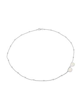 collar de plata con calcedonia blanca-nehcaa