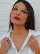 collar de plata doble Glasses