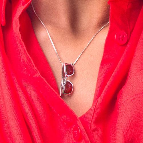 piedras preciosas-colgante plata sostenible con cornalina