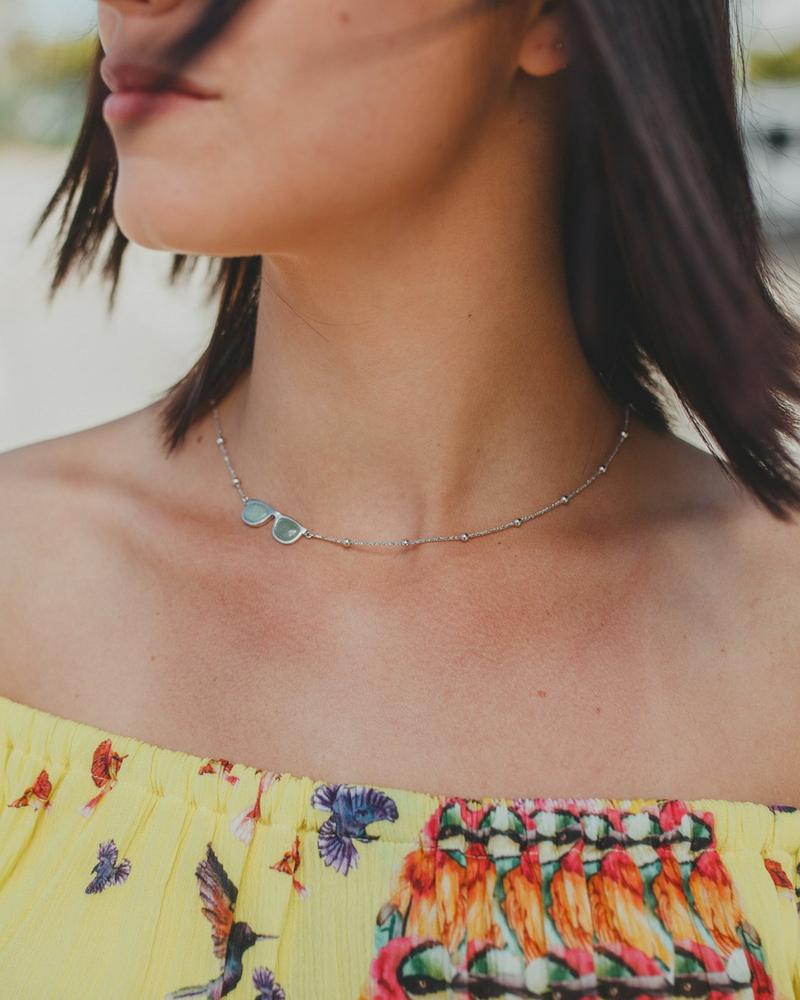 gargantilla de plata con aventurina_NEHCAA Jewelry