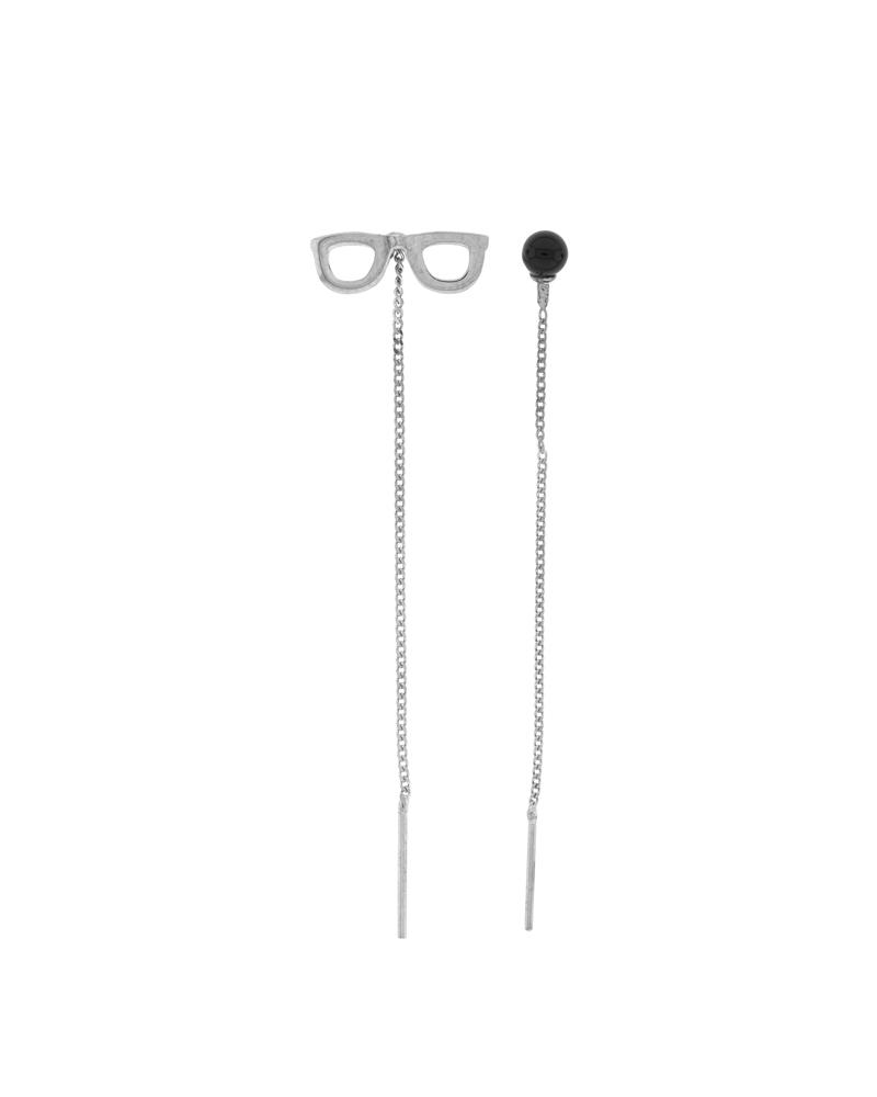 pendientes de plata cadena larga-ónix-NEHCAA