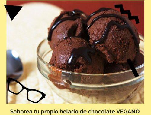 Receta para hacer un helado vegano de chocolate