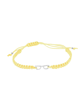 Pulseras de hilo amarillo mini glasses