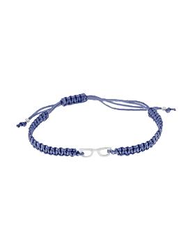 Pulseras de hilo azul mini glasses