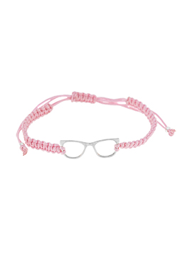 Pulseras de hilo glasses rosa