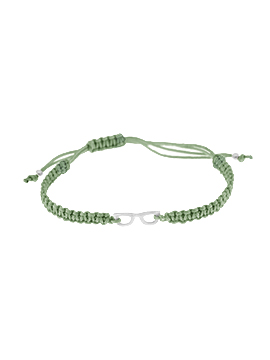 Pulseras de hilo verde mini glasses