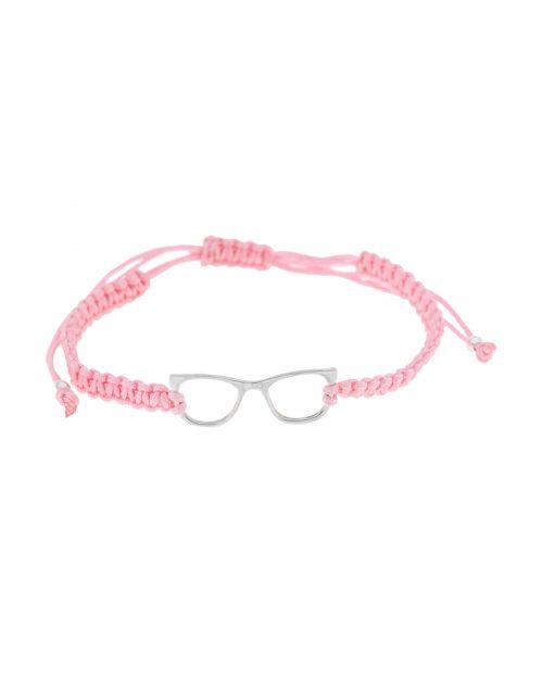 pulseras de hilo glasses-Pulseras entusiasmo-rosa-NEHCAA