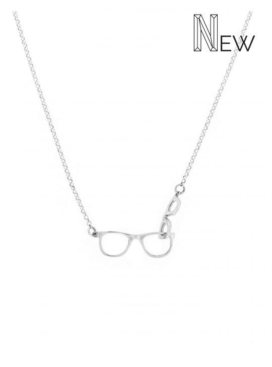 colgante doble glasses plata NEHCAA Jewelry