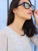 Pendientes aro pequeño plata mini Glasses NEHCAA