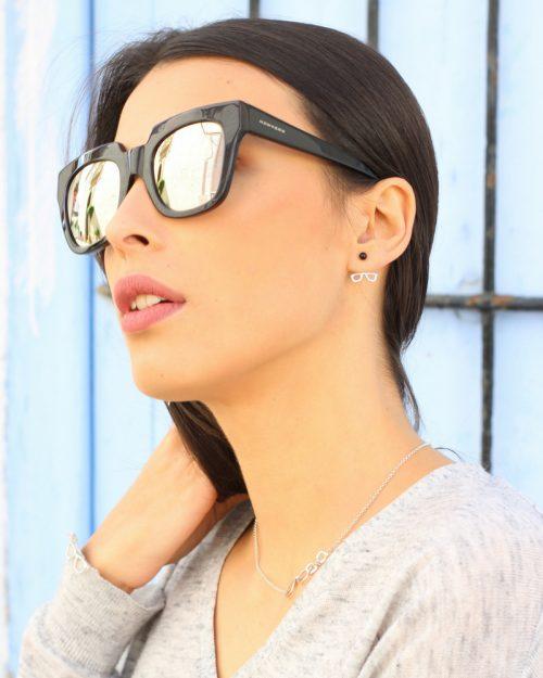 Pendientes ear jackets plata sostenible NEHCAA