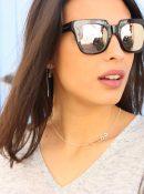 colgante doble glasses plata sostenible NEHCAA Jewelry