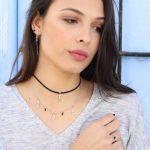 Cadena corta de plata Onix Mini GLASSES NEHCAA Jewelry