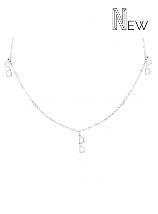 cadena de plata cuarzo Mini GLASSES NEHCAA Jewelry
