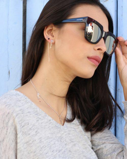 Cadena de plata cuarzo-collar para mujeres-NEHCAA