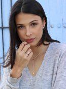 cadena de plata oro rosa Mini Glasses NEHCAA Jewelry
