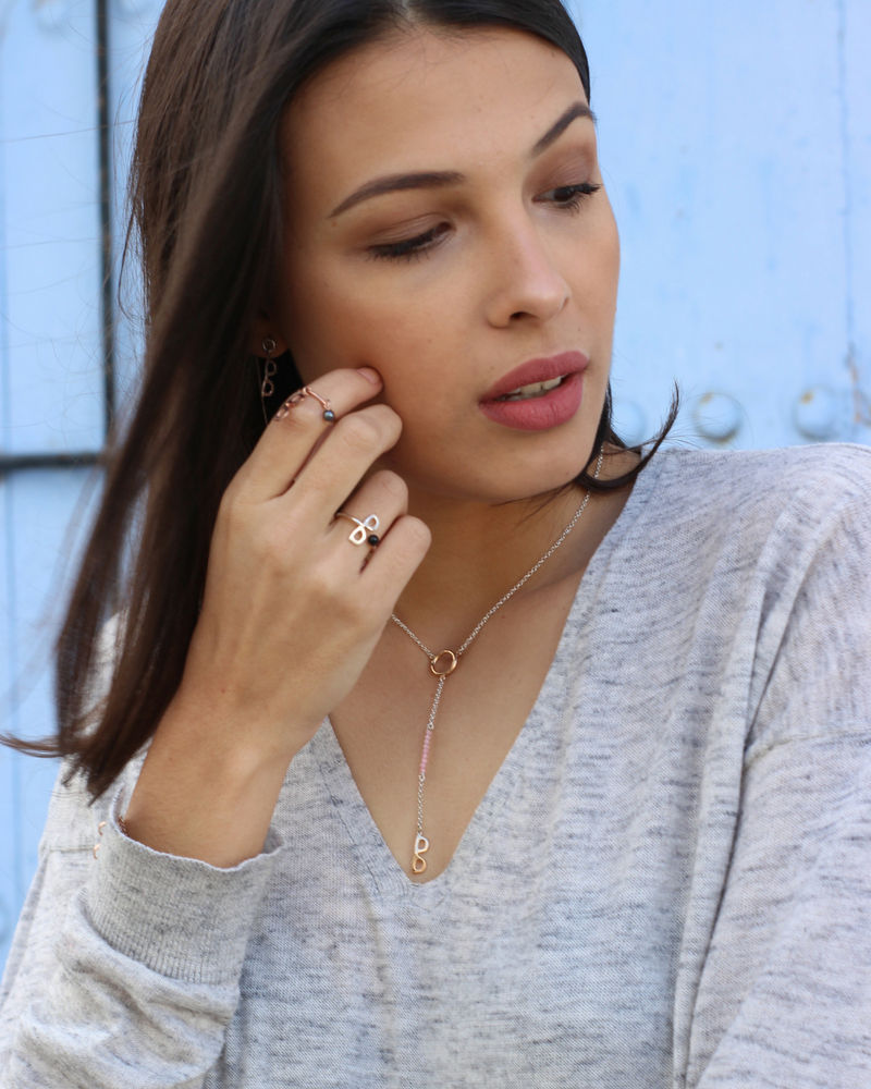 Cadena de plata oro rosa-colgante NEHCAA Jewelry