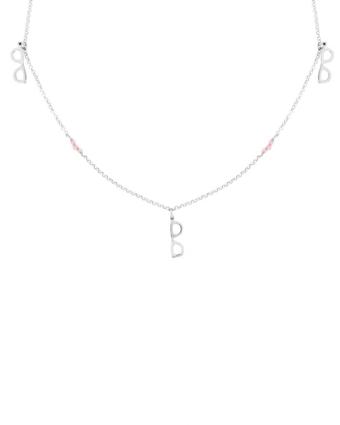 cadena de plata corta-collar templanza-NEHCAA