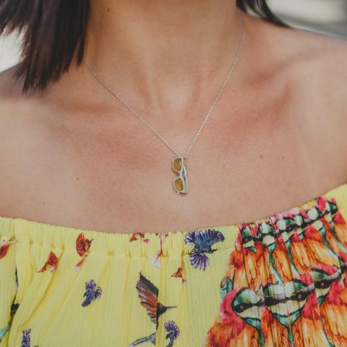 Piedras preciosas-colgante plata mujer-agata amarilla-NEHCAA