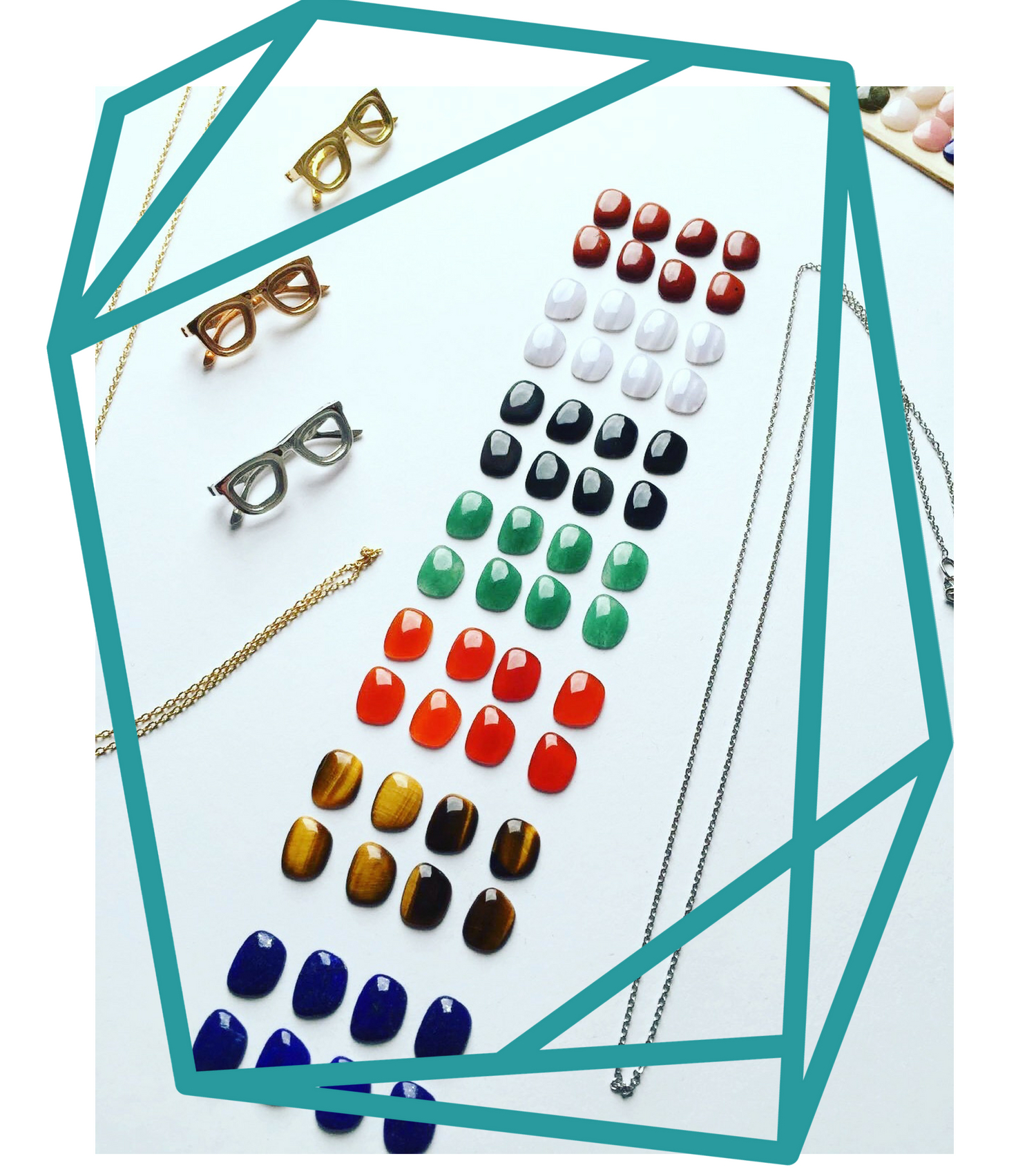 Piedras preciosas-colgantes glasses-NEHCAA