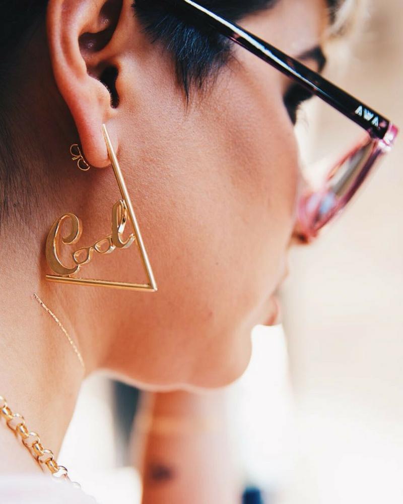 Pendientes soy COOL libre by Alejandra Castello y NEHCAA Jewelry