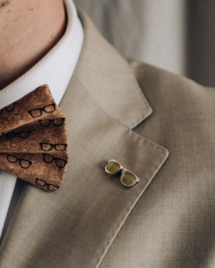 Pin para trajes o sacos de hombre-NEHCAA-Joyas Sostenibles Hombre