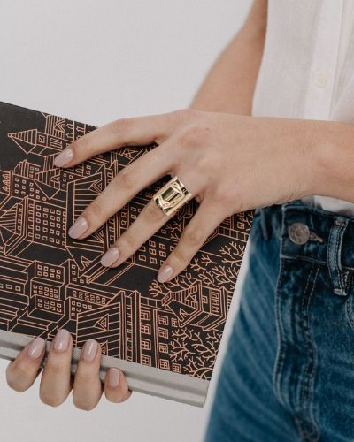 Anillo de oro y plata sostenible Luisa_NEHCAA Jewelry