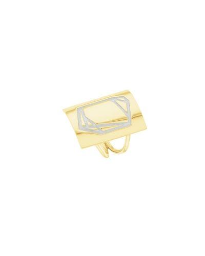 Anillo de oro y plata sostenible_Luisa_Detalles_NEHCAA Jewelry