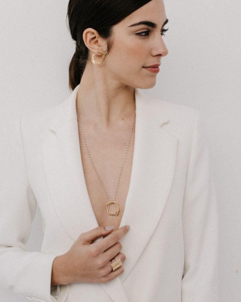 Collar de oro Olivia_Plata Sostenible_NEHCAA Jewelry