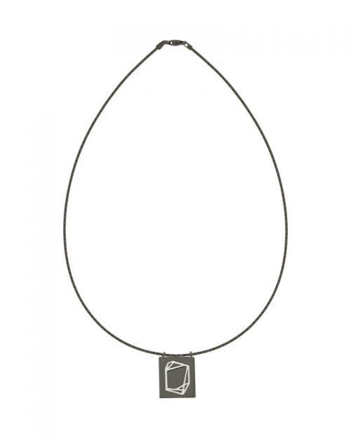 Gargantilla de oro negro_Plata Sostenible_Detalles_NEHCAA Jewelry