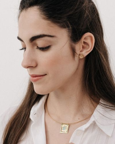 Pendientes de oro Victoria_Plata Sostenible_NEHCAA Jewelry