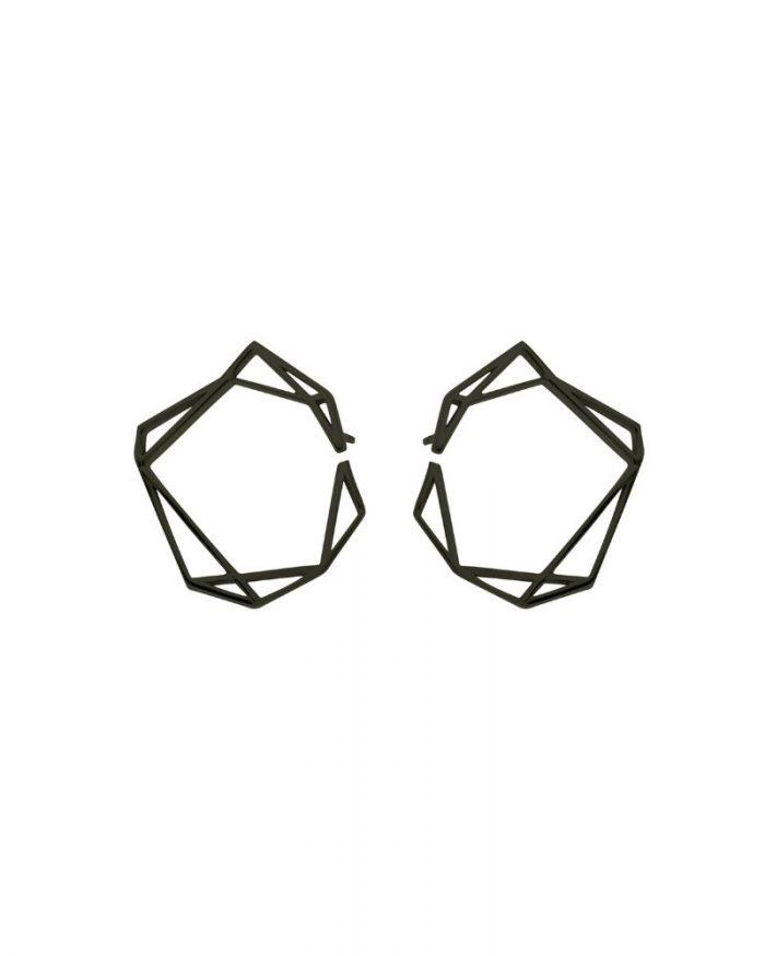 Pendientes de oro negro_Gema__detalles_NEHCAA Jewelry