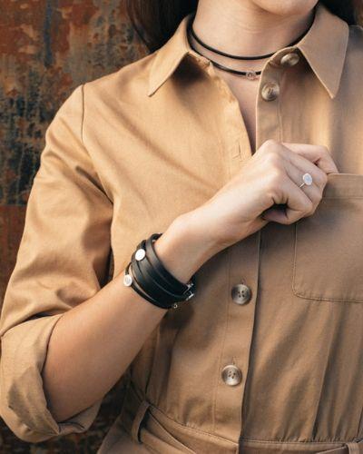 Pulsera fina de plata Mercedes NEHCAA Jewelry_combinación pulseras